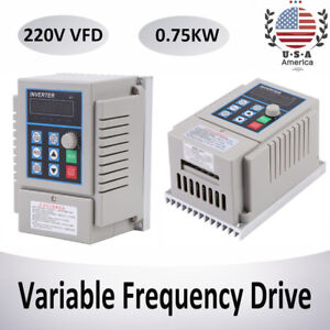 1hp 0 75kw 220v Single Phase To 3 three Phase Output Frequency Converter Vfd Vsd
