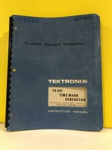 Tektronix 070 1576 00 Tg 501 Time Mark Generator Instruction Manual