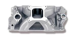 Brand New Strip Dom Intake Manifold Sbc 57 86 262 400 4500 7600 87 Up Alum Heads
