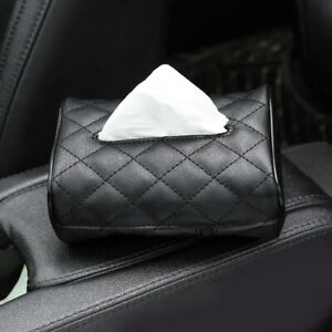 New Car Seat Back Leather Tissue Box Manual Sewing Paper Napkin Holder Organizer