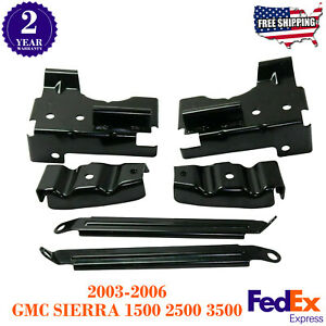 Front Bumper Bracket Set For 2003 2006 Gmc Sierra 1500 2500 3500 Pickup