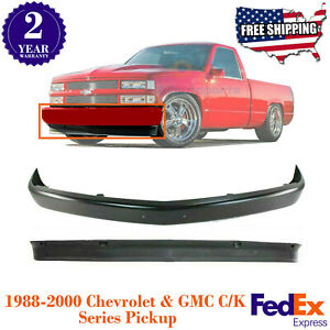 Front Bumper Steel Primed Valance For 1988 2000 Chevy Gmc Pick Up C1500 3500
