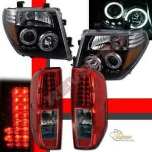 Dual Ccfl Halo Projector Headlights Led Tail Lights For 05 08 Nissan Frontier