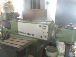 Used Butler Elgamill 3 axis Cnc Mill 47 X 19 9 1 2 Table W fanuc Controls mm