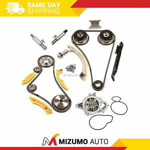 Timing Chain Kit Vct Selenoid Actuator Gear Water Pump Fit Gm Ecotec 2 0l 2 4