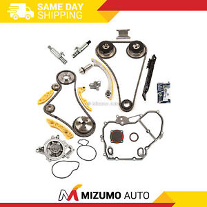 Timing Chain Kit Vct Selenoid Actuator Gear Water Pump Fit Gm 2 0l 2 4l Ecotec