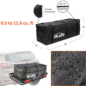 Expandable Hitch Mount Cargo Carrier Bag Waterproof Travel Luggage Car Truck Suv