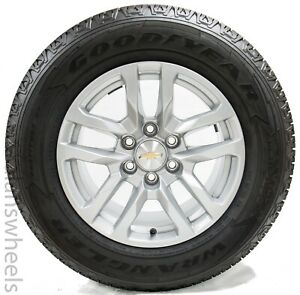 New Takeoff Chevy Silverado Avalanche 18 Factory Oem Wheels Rims Goodyear Tires