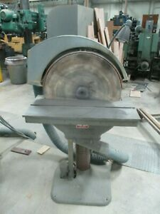 USED State Brand D24 Disc Sander w adjustable angle table