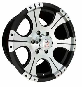 17x9 Rebel Racing Ace 5x139 7 Et0 Black W machined Face Rims set Of 4