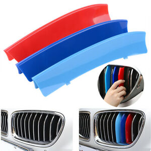 M Color Kidney Grill Grille Cover Decal Clip Strip Trim For Bmw X1 E84 2010 2015