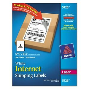 Avery Dennison 5126 White Shipping Labels case Of 200