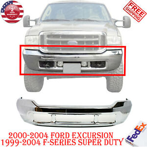 Front Bumper Chrome Steel For 00 2004 Ford Excursion 99 2004 F series Super Duty