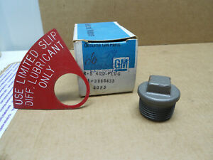 Nos Gm 1966 79 Corvette Positraction Posi Differential Drain Plug Red Tag Ncrs