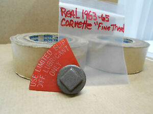 1963 64 65 Corvette Positraction Posi Rear Differential Drain Plug Red Tag Ncrs
