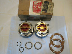 Nos Willys Mb Gpw Cj Jeep Warn Lock O Matic M3b Locking Hubs 10 Spline