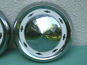 Chevrolet Original Vintage Chrome Hub Caps Wheel Covers 10 5 8 Chevelle Pick Up