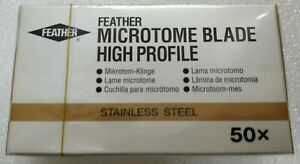 Feather Microtome High Profile 50 Pcs Blade Packing lab Blade