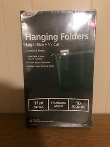 Ampad Hanging Folders legal Size 1 5 Cut std green 11 Pt 16350