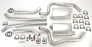 Jegs 30559 Header Back Dual 2 1 2 Exhaust Kit