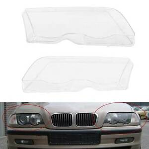 Samger Car Headlight Lens Cover For Bmw 3 Series E46 98 01 4 Door Pre Facelift