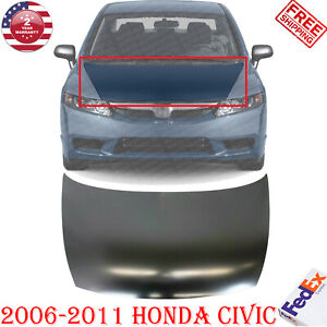 Front Hood Primed Steel For 2006 2011 Honda Civic Ex L Ex Gx Dx Lx S Sedan Model