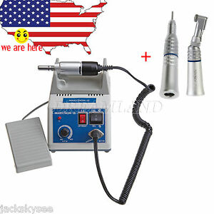 Dental Marathon 35k Rpm Electric Micro Motor Contra Angle Straight Low Handpiece