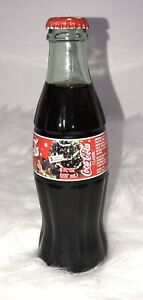 8 OZ Coca Cola Bottle 2002 Holiday Santa Edition 8oz Unopened