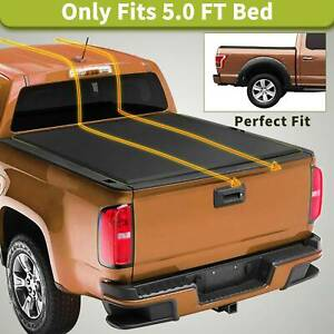 Soft Tri Fold Truck Tonneau Cover Fit For 15 20 Chevy Colorado Gmc Canyon 5ft