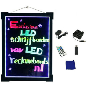 5 Sizes New Hanging Led Writing Message Board Restaurant Menu Sign For Promotion