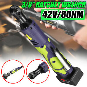 12 18 42v 3 8 Cordless Electric Ratchet Wrench Tool With Charger Kit Battery