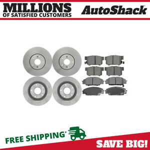 Front Rear Rotors And Ceramic Pads For 2007 2010 Acura Csx 2006 2011 Honda Civic