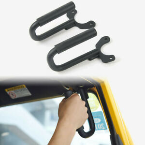 Solid Steel Front Grab Handles Grab Bar Grip For Jeep Wrangler Tj 1997 2006
