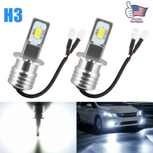 H3 100w Fog Driving Lights Cree Led Light Bulbs 6000k Super Bright White 6000lm