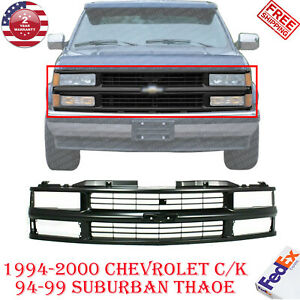 Front Bumper Grille Primed For 94 00 Chevy C k 94 99 Suburban Tahoe 92 94 Blazer