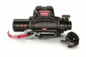 Warn 96805 Black Vehicle Mounted Vr8 S 12v Electric Winch W 90 Synthetic Rope