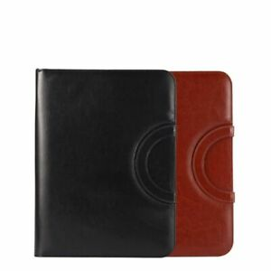 A4 Document Folders Pu Leathers Zipped Ring Binders Conference Bags Business