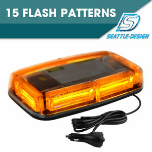 Cob Led Amber Roof Top Emergency Hazard Warning Led Strobe Lights Bar