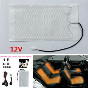 Universal 12v Car Seat Heater 3 Files Switch Carbon Fiber Heating Pad Cover Kit