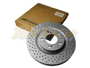 1 X Spoon Sports Front Drilled Brake Rotor For Honda S2000 Ap1 Ap2