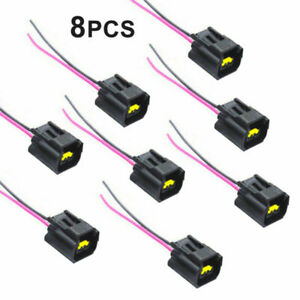 8pc Car Ignition Coil Connector Modular Pigtail Plug Wire For Ford Mazda Mercury
