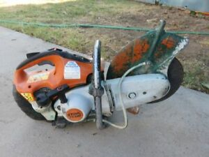 Stihl Ts420 Concrete Cutoff Saw Well Used With Blade Look