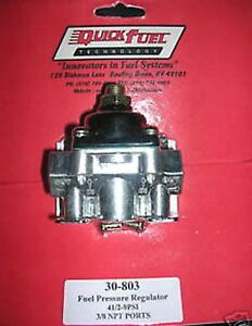 Holley Fuel Pressure Regulator Carburetor Carb Quick Fuel 30 803 4 1 2 9 Psi