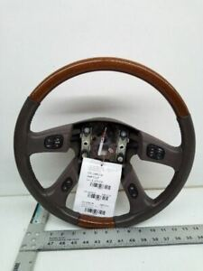 2003 040 05 06 Escalade Leather Woodgrain Steering Wheel Control Buttons 6487868