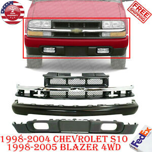 Front Bumper Primed Valance Grille For 98 2004 Chevy S10 98 05 Blazer 4wd