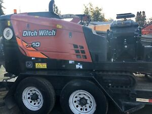 Used Ditch Witch Jt10 With Mixer Trailer And Tooling With Only 760 Hr
