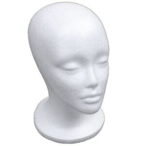 Female Foam Mannequin Head Form Model Hat Wig Jewelry Display Stand Rack White
