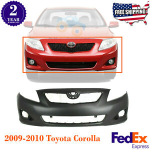 Front Bumper Cover Primed For 2009 2010 Toyota Corolla S Xrs Models