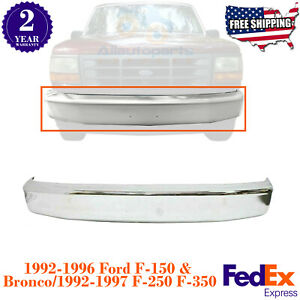 Front Bumper Chrome Steel Bar For 1992 1996 Ford F series 1997 F 250hd f 350