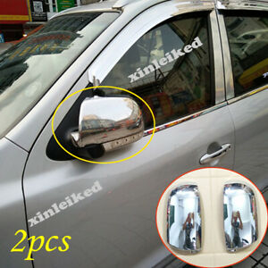 Fit For Hyundai Santa Fe 2009 2012 Abs Chrome Side Door Mirror Cover Trim Led